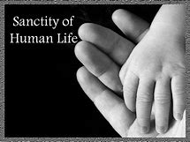 santity of human life